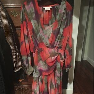 Vintage 1920style  ny dress... water color flowers